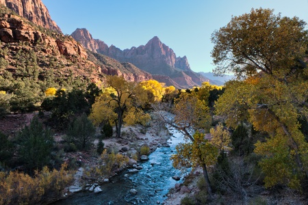 Late afternoon Virgin River valley
