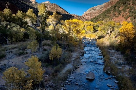 Winter sunshine along the Virgin River valley photo