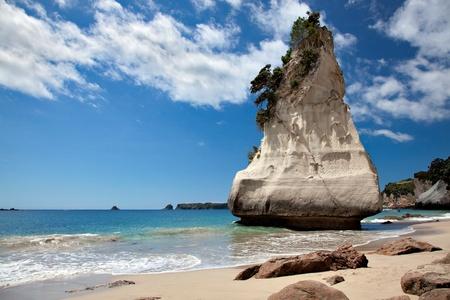 Cathedral Cove Coromandel Peninsula Stock Photo