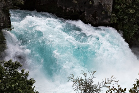 the rapids: Huka Falls
