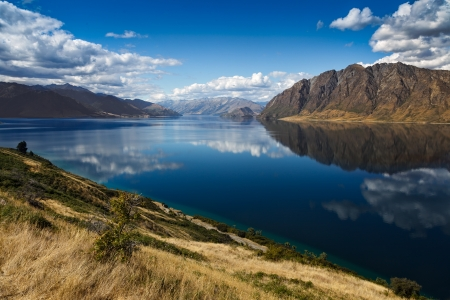 Lake Hawea Stock Photo