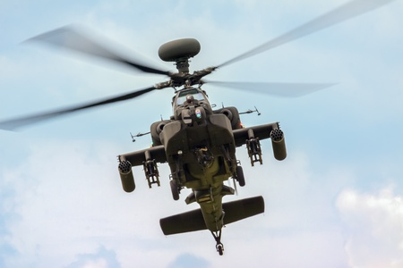 apache: Blue Eagles Apache aerial display at Biggin Hill Airshow Editorial