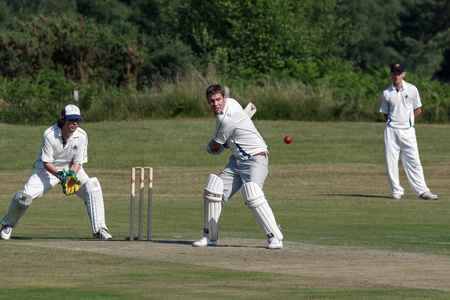 Village cricket being played at Coleman's Hatch