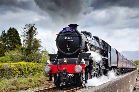 the jacobite: The Jacobite steaming through Corpach Editorial
