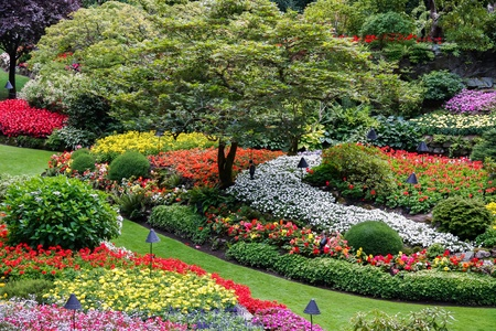 internationally: Butchart Gardens Brentwood Bay near Victoria Vancouver Island British Colombia Canada