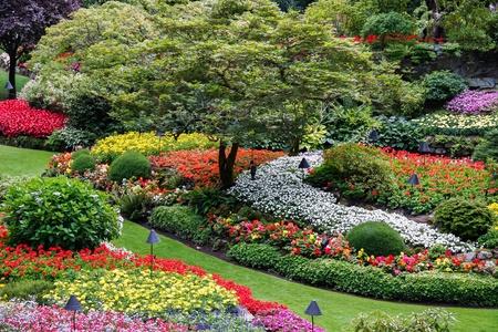 Butchart Gardens Brentwood Bay w pobliżu Victoria Vancouver Island Kolumbia Brytyjska Kanada