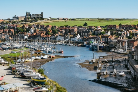 whitby: View along the Esk towards Whitby Editorial