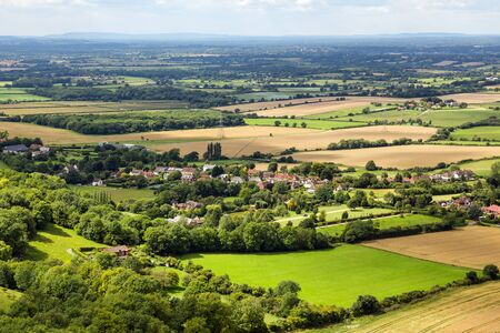 rural skyline: Scenic view of Sussex from the South Downs