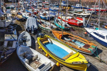 crowded: Crowded harbour at North Berwick