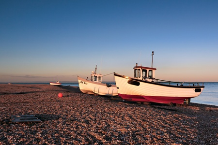 dungeness: Fishing boats on Dungeness beach