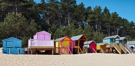 Some brightly coloured beach huts in Wells Next the Sea photo