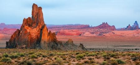 igneous: Churh Rock near Kayenta Arizona Stock Photo