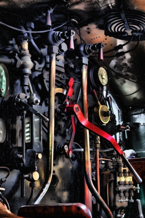 The cab of Hercules steam train photo