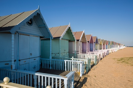 Beach huts at West Mersea photo