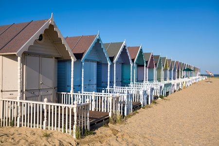 mersea: Beach huts at West Mersea
