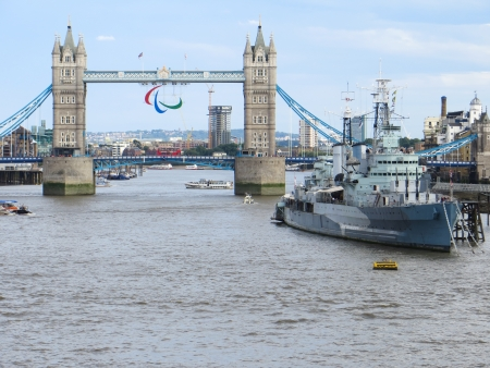 HMS Belfast and Tower Bridge photo