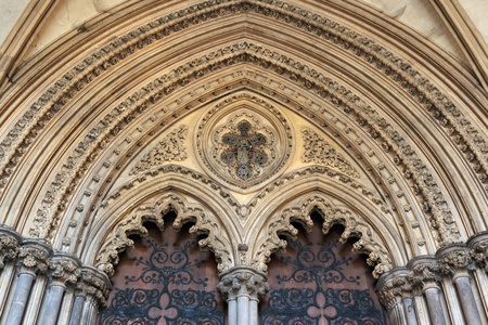 elaborate: Entrance to Ely cathedral