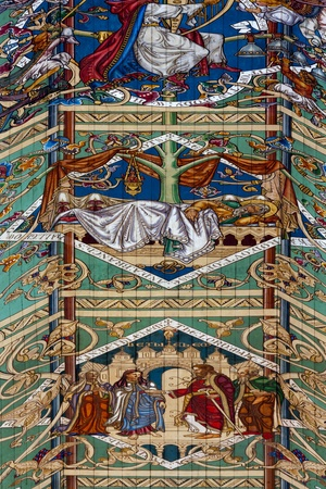 detailed view: Detailed view of part of the ceiling in Ely Cathedral