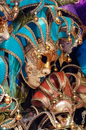 Venetian masks for sale at Winter Wondeland in Hyde Park Stock Photo - 16847206