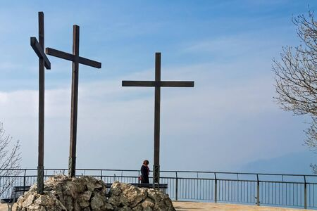 Three crosses at the Volta Lighthouse overlook