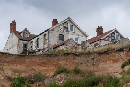 coastal erosion: Coastal erosion at Happisburgh Norfolk