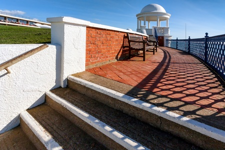 Colonnade in grounds of De La Warr Pavilion Bexhill On Sea East Sussex photo