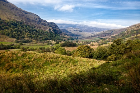 snowdonia: Valley in Snowdonia National Park Stock Photo