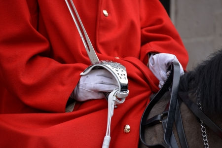 cavalry: Lifeguard of the Queens Household Cavalry Stock Photo