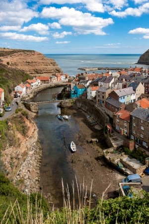 north yorkshire: Looking down over Staithes