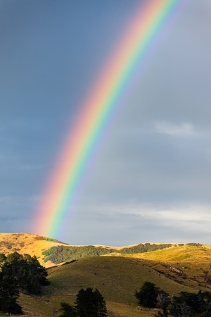 Rainbow over the Otago peninsular photo