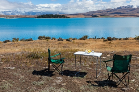 Picnic at Lake Tekapo photo
