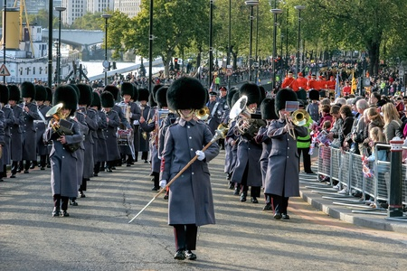 honorable: Band of the Honorable Artillery Company marching at the Lord Mayor Editorial