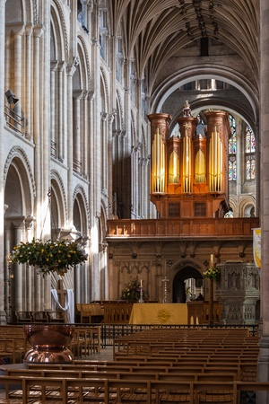 consecrated: Interior of Norwich Cathedral Editorial