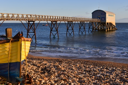 Selsey Bill Lifeboat Station on a winter