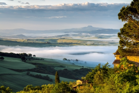 Sunrise over Val d Orcia photo