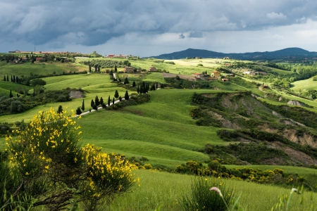 orcia: Val D Orcia Stock Photo