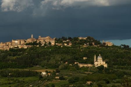montepulciano: San Biagio church and Montepulciano Tuscany
