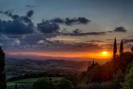orcia: Sunset Val d Orcia