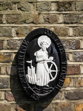 katherine: Plaque of St Katherine by the Tower church