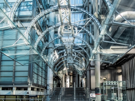 steel blue: Lloyds of London building Editorial