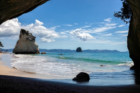 australasia: Cathedral Cove Coromandel Peninsula Stock Photo
