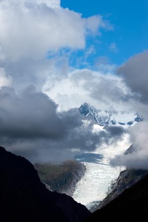fox glacier: Fox Glacier Stock Photo
