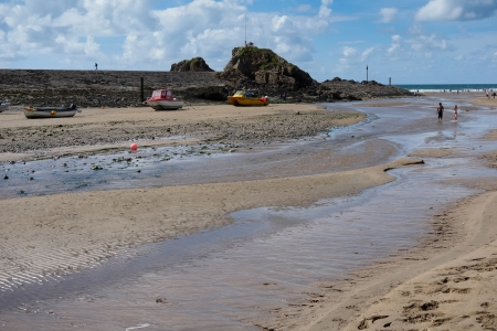 The beach at Bude photo