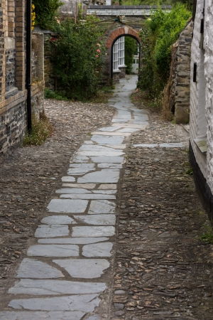 Old street in Port Isaac photo
