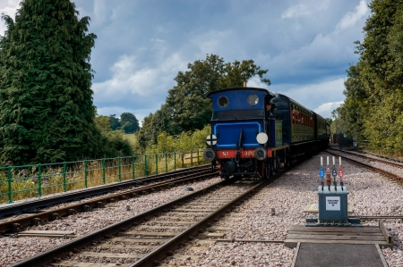grinstead: Bluebell steaming into East Grinstead station Editorial