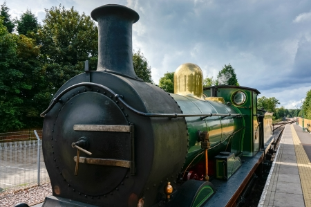 grinstead: Partial view C Class steam engine at East Grinstead