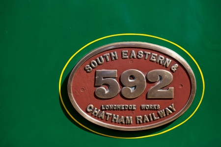 manufacturers: Manufacturers plaque on C Class steam train