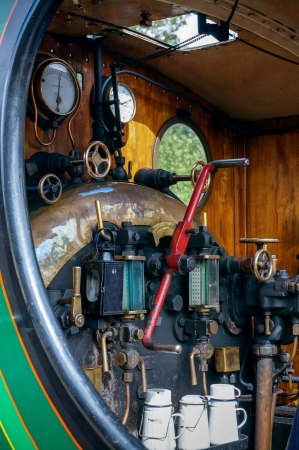 vertical format: Close-up detail C Class steam engine at East Grinstead Editorial
