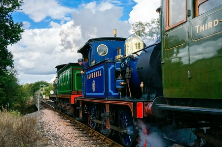 steam engines: C Class and Bluebell steam engines leaving Sheffield Park station