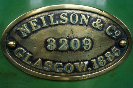 manufacturers: Old steam train manufacturers badge